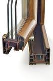 Perfil de la ventana del PVC Foto de archivo