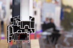 Perfil de la ventana del PVC Imagenes de archivo