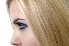 Perfil de los womans cara y pelo Imágenes de archivo libres de regalías