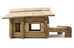 Perfil de madera de la casa Fotografía de archivo libre de regalías