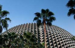 Perfil de punta del teatro de la explanada, Singapur Foto de archivo libre de regalías