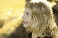 Perfil de sorriso Imagens de Stock