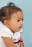 Perfil de um bebê Fotografia de Stock