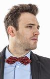 Perfil de um homem de negócios novo Imagens de Stock Royalty Free