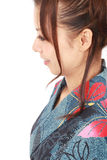 Perfil de uma mulher japonesa Fotografia de Stock Royalty Free