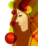 Perfil de uma mulher, saúde, beleza Imagem de Stock Royalty Free