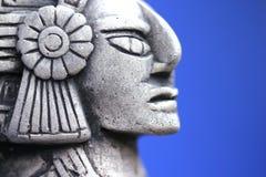Perfil de un ídolo mexicano Fotos de archivo