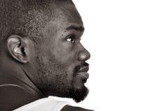 Perfil de un hombre del afro-Amrican Imágenes de archivo libres de regalías