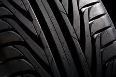 Perfil de un nuevo neumático Imagen de archivo