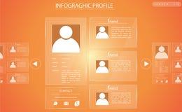 Perfil de vidro gráfico da informação Fotos de Stock Royalty Free