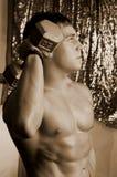 Perfil del Bodybuilder Fotografía de archivo