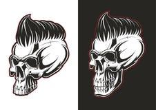 Perfil del cráneo del peluquero medio Imagen de archivo libre de regalías