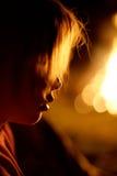 Perfil del fuego kidby Fotografía de archivo libre de regalías