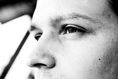 Perfil del hombre joven hermoso Imagenes de archivo