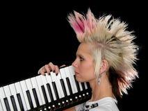 Perfil del músico punky Fotos de archivo
