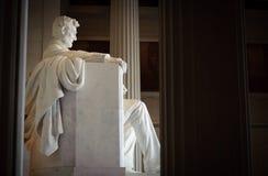 Perfil del monumento de Lincoln Imagenes de archivo