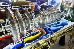 Perfil del motor de turbina Tecnologías de aviación fotos de archivo