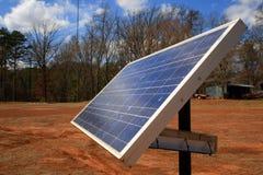 Perfil del paisaje del panel solar Fotos de archivo
