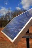 Perfil del panel solar Foto de archivo libre de regalías