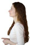 Perfil del pelo de la mujer Imágenes de archivo libres de regalías