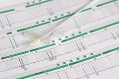 Perfil do ADN - impressão digital genética Fotografia de Stock