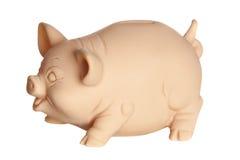 Perfil do banco piggy Imagem de Stock