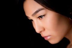 Perfil do close-up da senhora asiática no estúdio Foto de Stock Royalty Free