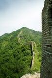Perfil do enrolamento do Grande Muralha de um watchtowe Foto de Stock Royalty Free
