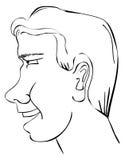 Perfil do homem ilustração stock