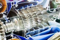 Perfil do motor de turbina Tecnologias de aviação imagens de stock royalty free