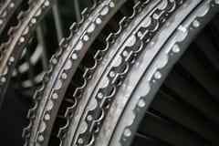 Perfil do motor de turbina Tecnologias de aviação Jato dos aviões Imagem de Stock Royalty Free
