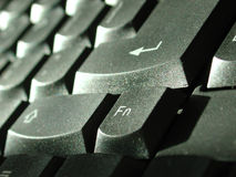 Perfil do teclado foto de stock royalty free