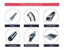 Perfil e tubos do metal Imagens de Stock