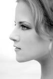 Perfil facial de una muchacha Imagenes de archivo
