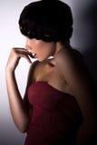Perfil femenino atractivo Foto de archivo libre de regalías