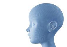 Perfil femenino de la cara ilustración del vector
