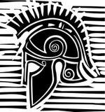 Perfil grego do capacete do Hoplite Foto de Stock