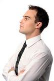 Perfil joven del hombre de negocios imagen de archivo libre de regalías