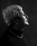 Perfil maduro de la mujer Foto de archivo libre de regalías
