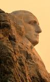 Perfil memorável nacional do Monte Rushmore Washington no nascer do sol imagem de stock royalty free