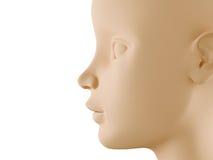Perfil neutral de la cara ilustración del vector
