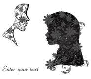 Mujer con floral libre illustration