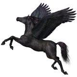 Perfil preto de Pegasus Imagem de Stock Royalty Free