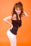 Perfil 'sexy' do Redhead foto de stock