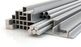 Perfiles de acero, ejemplo 3D ilustración del vector