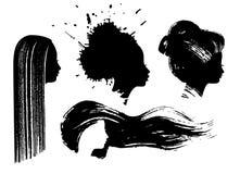 Perfiles de la mujer de la tinta