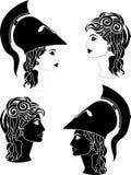 Perfiles griegos de la mujer Fotografía de archivo libre de regalías