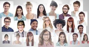 perfis do retrato de povos diferentes imagem de stock royalty free