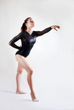 Perfomance of young gymnast Stock Photos