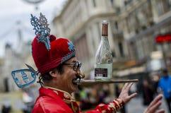 Perfomer cinese divertente della via, Vienna Immagini Stock Libere da Diritti